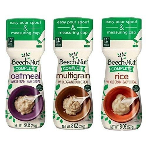 3 Pack Bundle Beech-Nut Baby Cereal: Rice, Oatmeal, and Multigra...