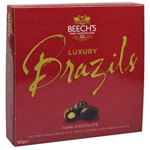 Beechs Luxury Dark Chocolate Brazils 90g Box