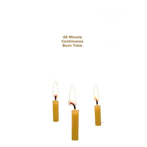 Beeswax Candle Works - 5 Inch Birthday Candles 24-Pack - 100% US...