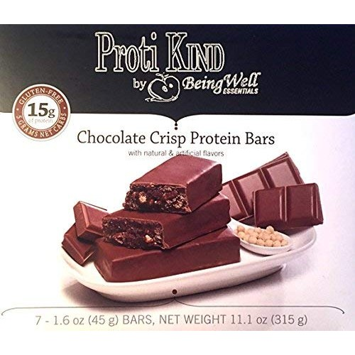 Proti Kind Very Low Carb Chocolate Crisp Protein Bars, 7 serving...