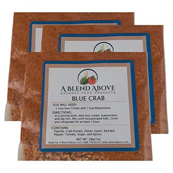 A Blend Above Blue Crab Dip Mix Mixed Seasonings Packet, 1 oz 3...