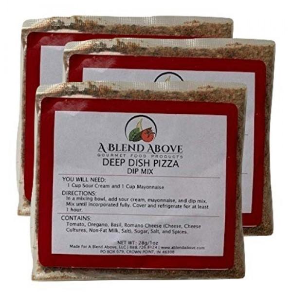 A Blend Above Deep Dish Pizza Dip Mix Mixed Seasonings Packet, 1...