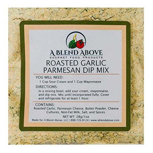 A Blend Above Roasted Garlic Parmesan Dip Mix Mixed Seasonings P...