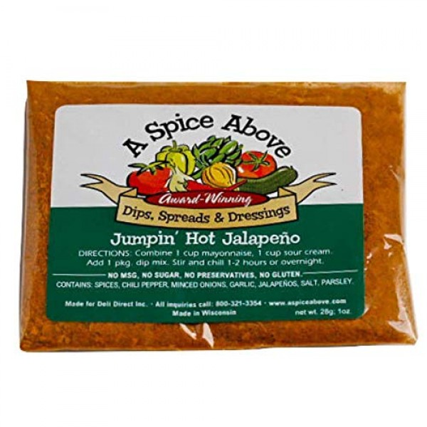 A Spice Above 5 Pack Spicy Dips Mixed Seasonings Packets Include...