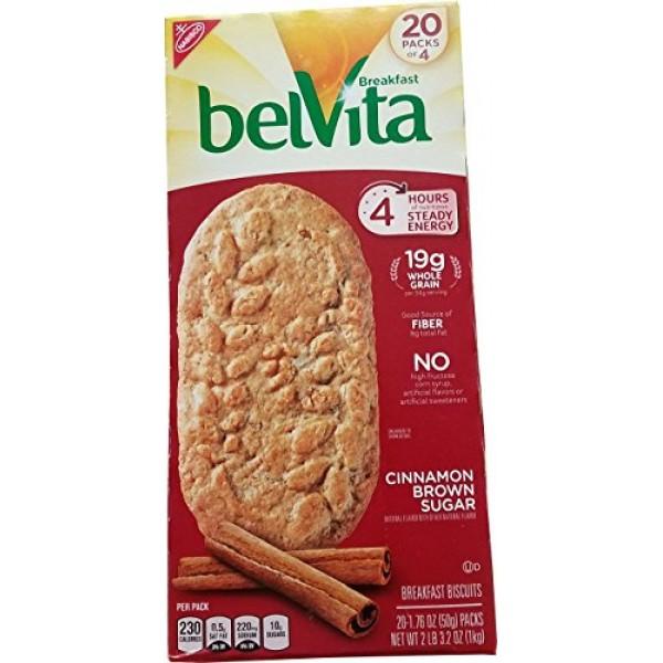 Belvita Brown Sugar/Cinnamon 20 Pack x 1.76 Oz, 35.20000000000...