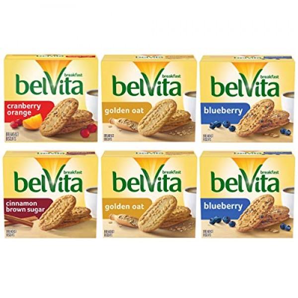 Belvita Breakfast Biscuits Variety Pack, 4 Flavors, 6 Boxes of 5...