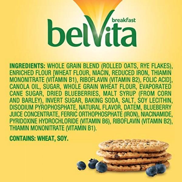 belVita Blueberry Breakfast Biscuits, 12 Packs 4 Biscuits Per P...
