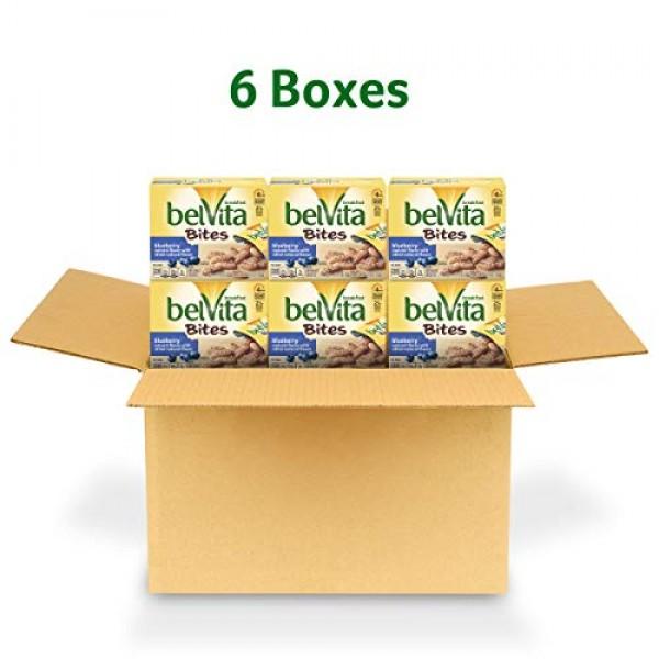 belVita Breakfast Biscuit Bites, Blueberry Flavor, 6 Boxes 5 Pa...
