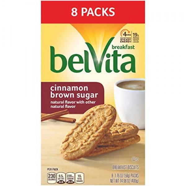 belVita Breakfast Biscuits, Cinnamon Brown Sugar Flavor, 8 Packs...
