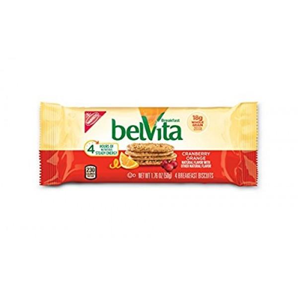 belVita Breakfast Biscuits, Cranberry Orange, 8.8 Ounce Pack of 2
