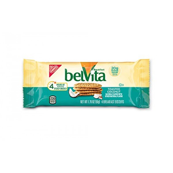 Belvita Breakfast Biscuits, Toasted Coconut, 8.8 Ounce