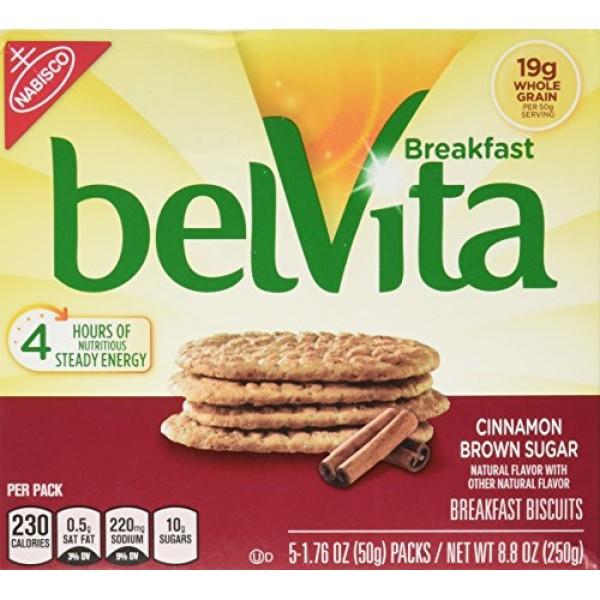 Belvita Cinnamon Brown Sugar Breakfast Biscuits 5 Servings 2 Pack
