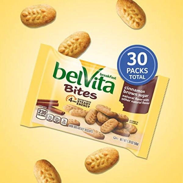 belVita Cinnamon Brown Sugar Mini Breakfast Biscuit Bites, 6 Box...