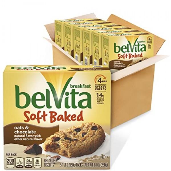belVita Oats & Chocolate Soft Baked Breakfast Biscuits, 5 Count ...