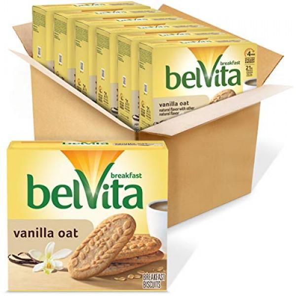 belVita Breakfast Biscuits, Vanilla Oat Flavor, 30 Packs 4 Bisc...