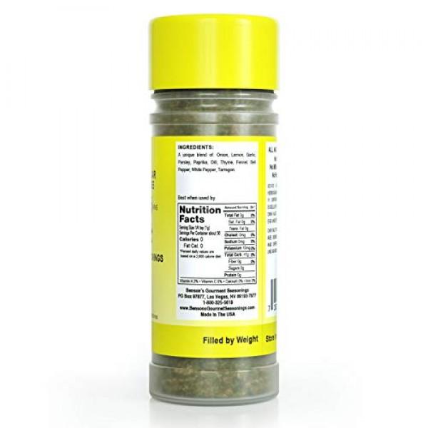 Bensons - Zesty Lemon and Herb Seasoning - Salt-Free, Sugar-Free...