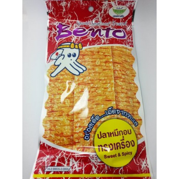 Bento Squid Seafood Snack - Sweet and Spicy Flavoured - Dried Sq...