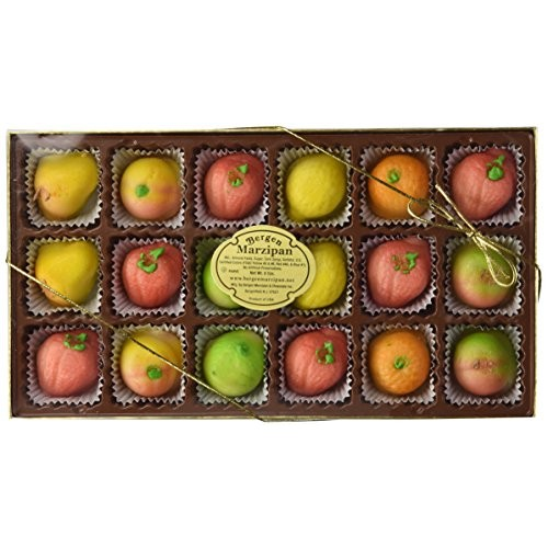 Bergen Marzipan - Assorted Fruit Shapes 18pcs. by Bergen Marzi...