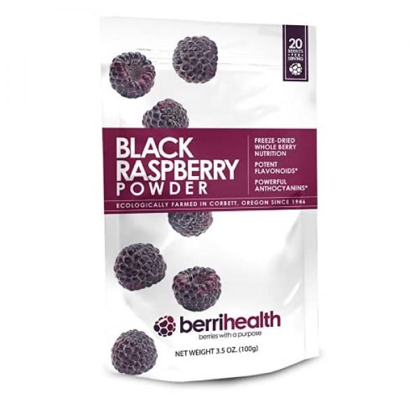 BerriHealths 100% Authentic Black Raspberry Powder - 100 Grams