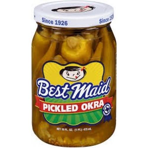 Best Maid Picked Okra, 16 oz. jar, Pack of 2