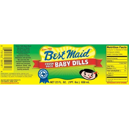 Best Maid Baby Dills 22 oz