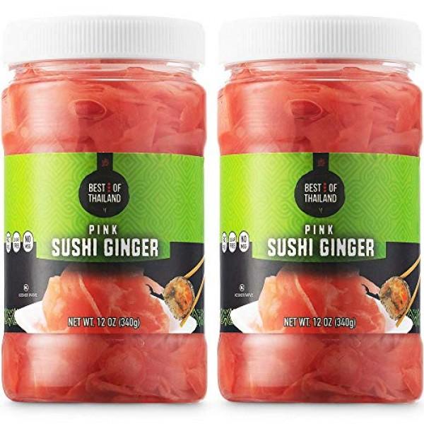 Best of Thailand Japanese Pink Pickled Sushi Ginger | Fresh Slic...