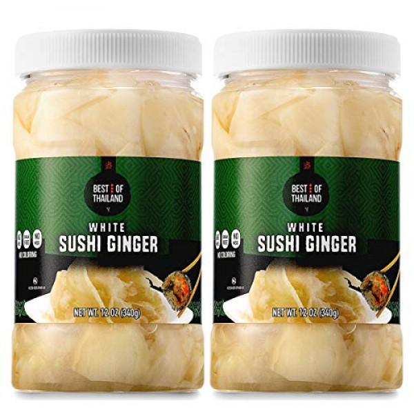 Best of Thailand Japanese White Pickled Sushi Ginger | Fresh Sli...