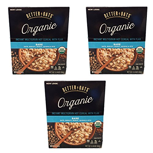 Better Oats Organic Multigrain Bare Instant Oatmeal with Flax Oa...