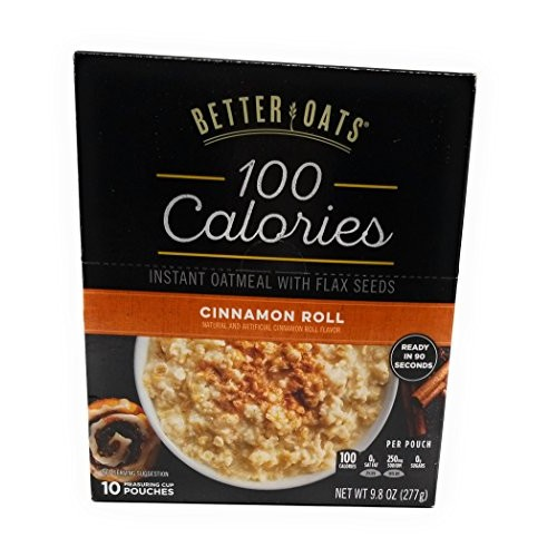 Better Oats, Instant Oatmeal, Cinnamon Roll, 10 Pouches per Box ...