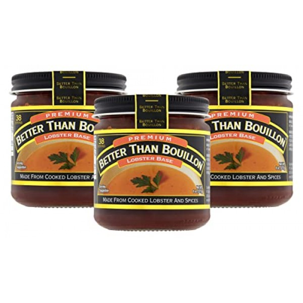 Better Than Bouillon Lobster Base broth 8.0 OZ Pack of 3