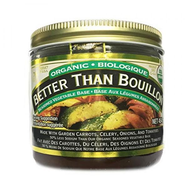 Better Than Bouillon Organic Vegetable Base 16 Oz, Reduced Sodiu...