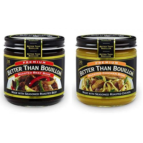 Better than Bouillon Premium Roasted Beef Base & Roasted Chicken...