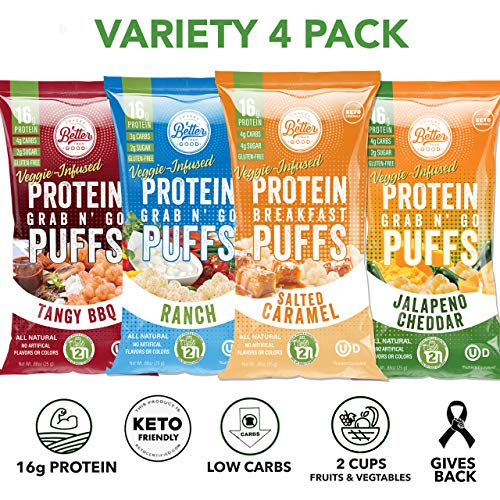 Better Than Good Low Carb Keto Protein Puffs Variety 4-pack 2 ...