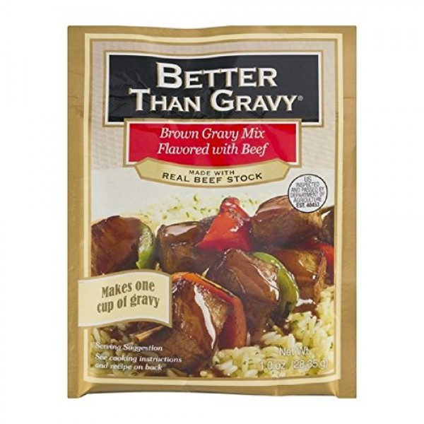 Better Than Gravy Gravy Mix Beef, 1 Ounce Pack of 12