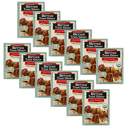 Better Than Gravy Organic Beef Gravy Mix 1 oz Pack of 12 in a ...