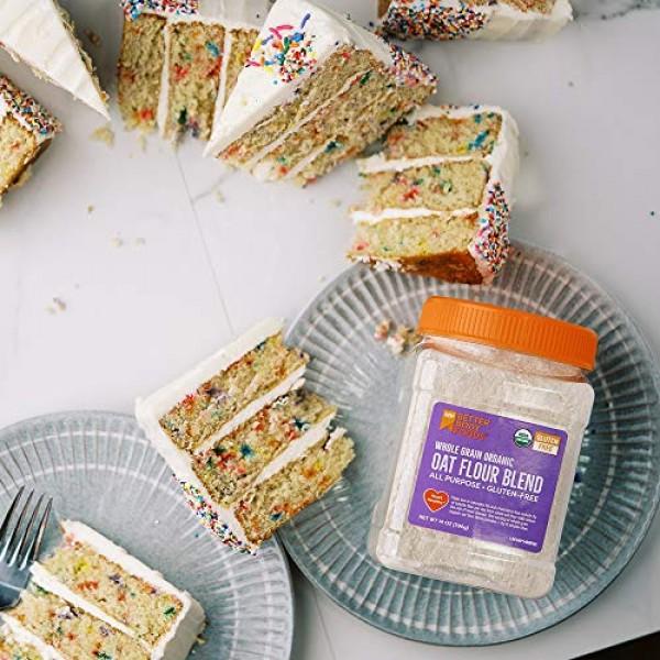 BetterBody Foods Oat Flour, Gluten-Free Flour for Baking 14-Oun...