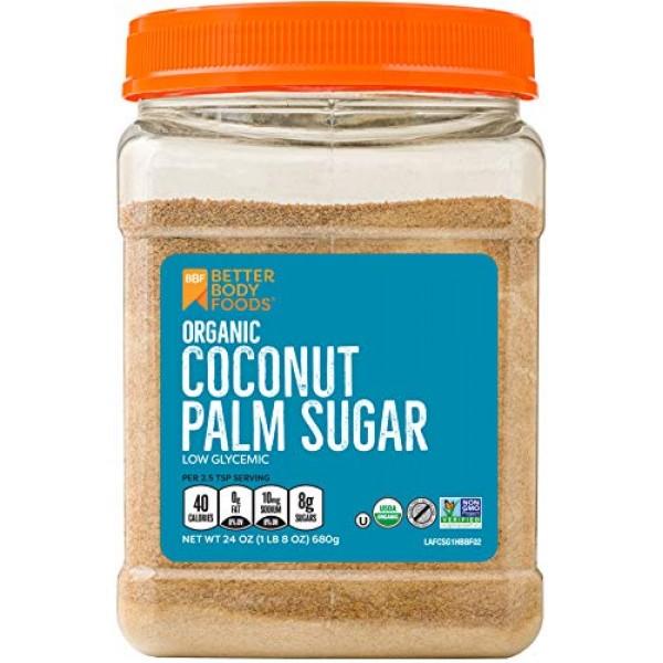 Organic Coconut Palm Sugar, Gluten-Free, Non-GMO Sweetener Subst...