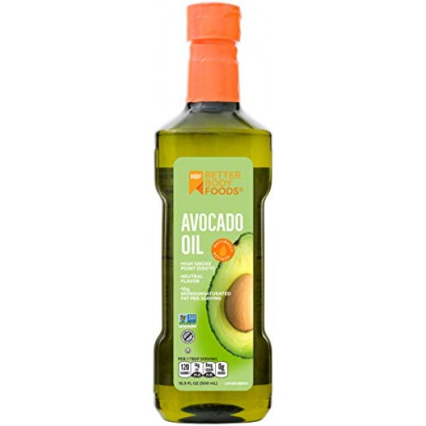 BetterBody Foods 100% Pure Avocado Oil Naturally Refined Cooking...