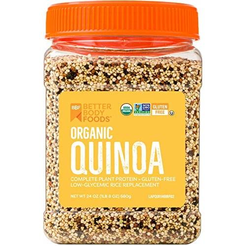 Organic Quinoa, Vegan, Non-GMO Grain with Protein, Fiber, and Ir...