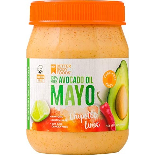 BetterBody Foods Avocado Oil Mayonnaise with Chipotle Lime, Avoc...