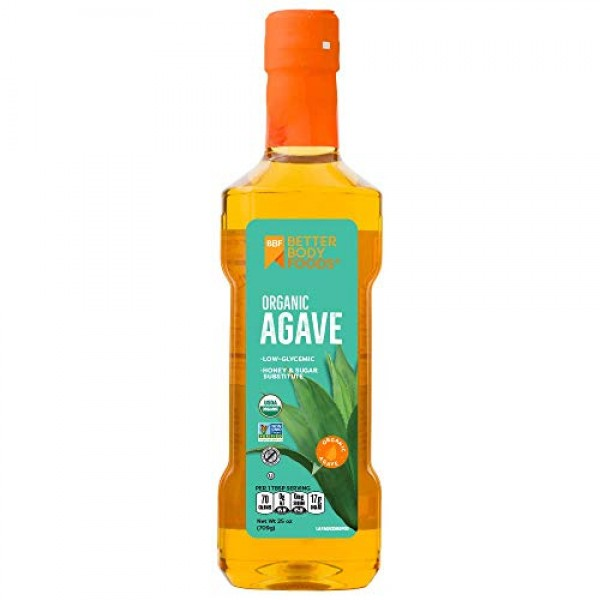 BetterBody Foods Organic Agave Nectar, 25 Ounces