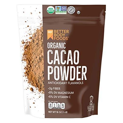 Organic Cacao Powder, Non-GMO, Gluten-Free Superfood 16 oz.