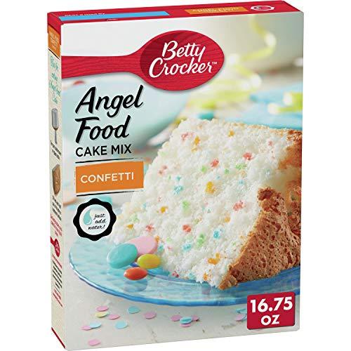 Betty Crocker Baking Mix, Fat Free Angel Food Cake Mix, Confetti...