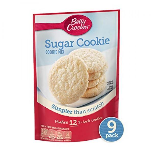 Betty Crocker Baking Mix, Sugar Cookie Mix, 6.25 Oz Pouch Pack ...