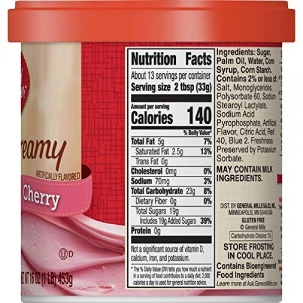 Betty Crocker Cherry Chip Cake Mix and Cherry Frosting Bundle - ...