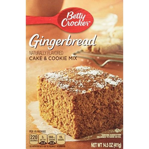 Betty Crocker, Gingerbread Cake & Cookie Mix, 14.5-Ounce Box Pa...