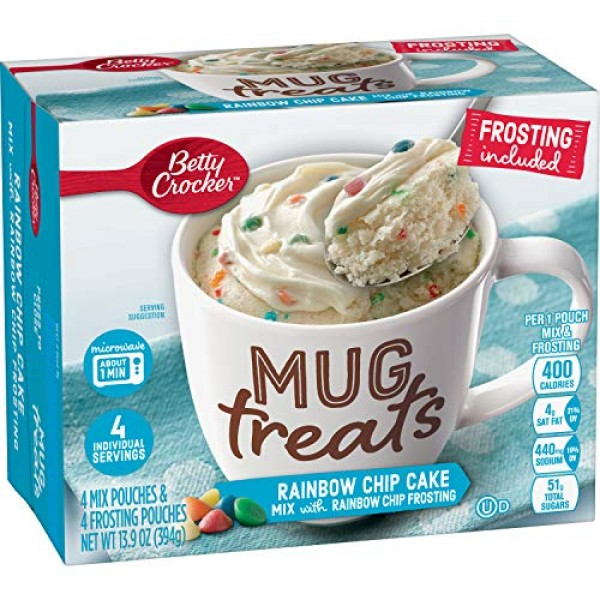 Betty Crocker Mug Treats, Rainbow Chip Cake Mix with Rainbow Chi...