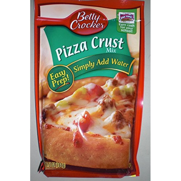 Betty Crocker Pizza Crust Mix, 6.5 - ounce Pouches Pack of 6