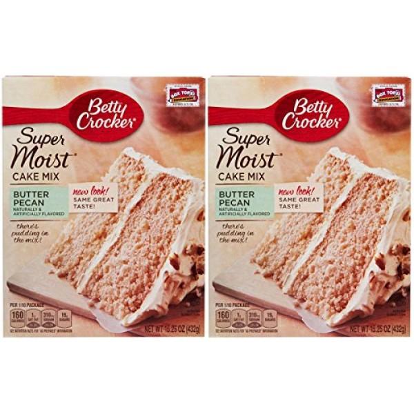 Betty Crocker Super Moist Cake Mix-Butter Pecan-15.25 Oz-2 Pack