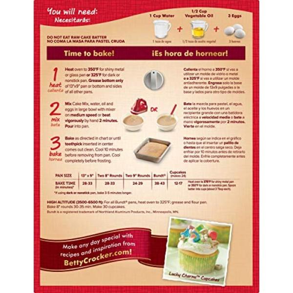 Betty Crocker Super Moist Cake Mix Cherry Chip 15.25 oz Box